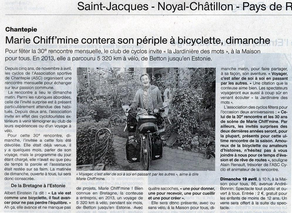 Périple à bicyclette